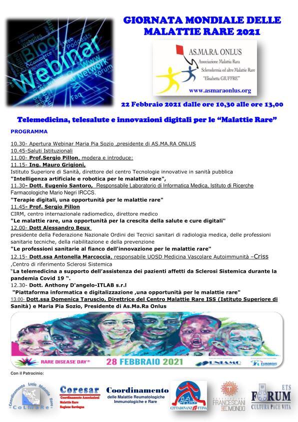 Giornata Mondiale delle Malattie Rare 2021